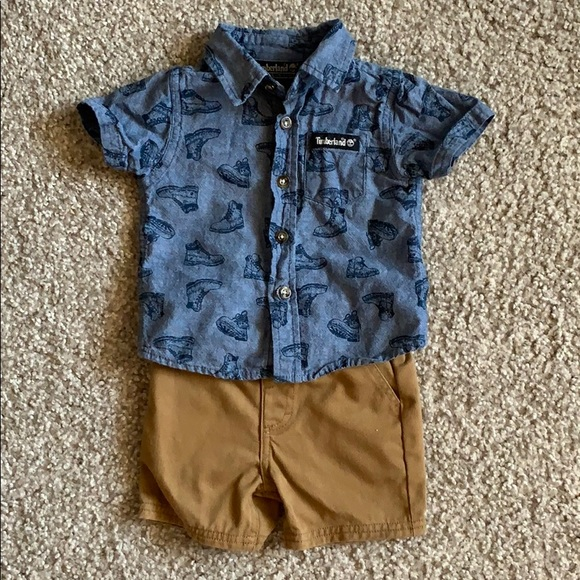 Timberland Other - Timberland baby shirt & short set